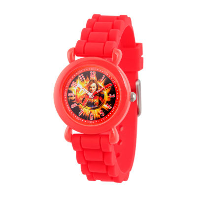 Avengers Girls Red Strap Watch-Wma000341