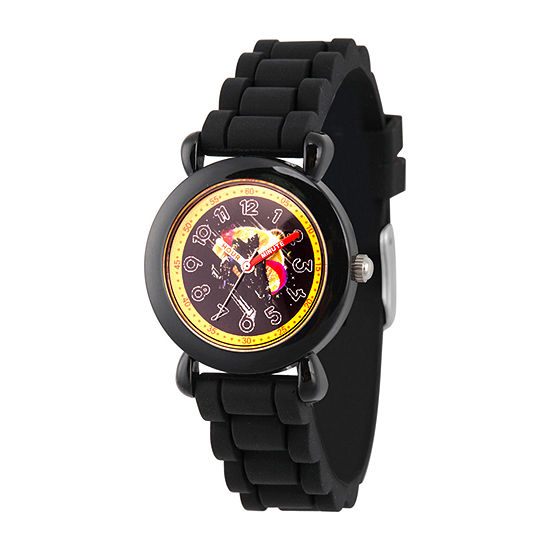 Marvel Avengers Boys Black Strap Watch-Wma000342