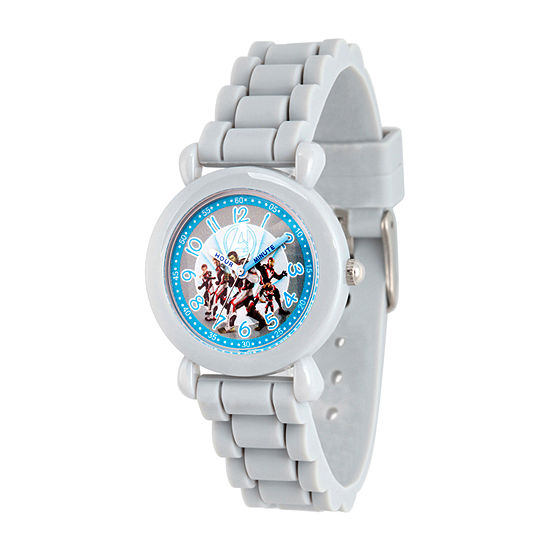 Avengers Boys Gray Strap Watch-Wma000343