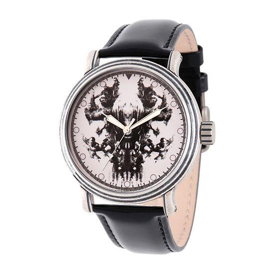 Avengers Mens Black Strap Watch-Wma000347