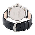 Marvel Avengers Mens Black Leather Strap Watch-Wma000347