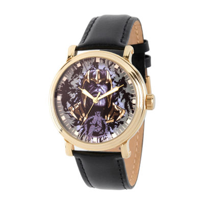 Avengers Mens Black Strap Watch-Wma000348
