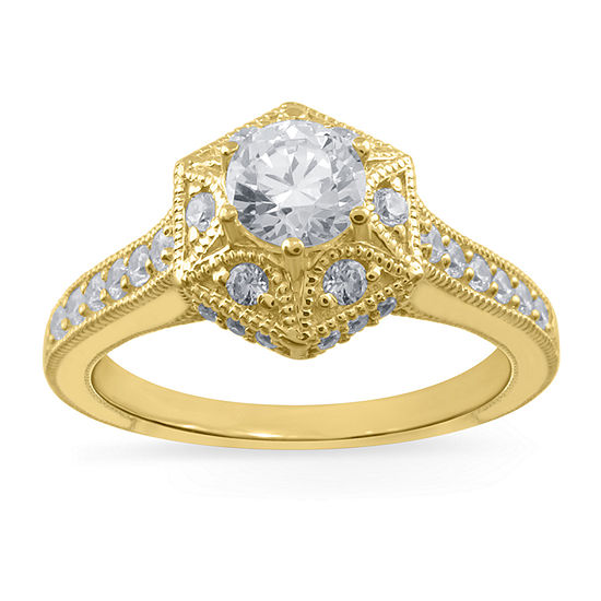 LIMITED QUANTITIES! Womens 3/4 CT. T.W. Genuine White Diamond 14K Gold Cocktail Ring