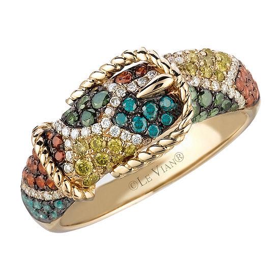 LIMITED QUANTITIES! Le Vian Grand Sample Sale™ Ring featuring Fancy Diamonds, Yellow Diamonds, Blue Diamonds, Vanilla Diamonds® set in 14K Honey Gold™
