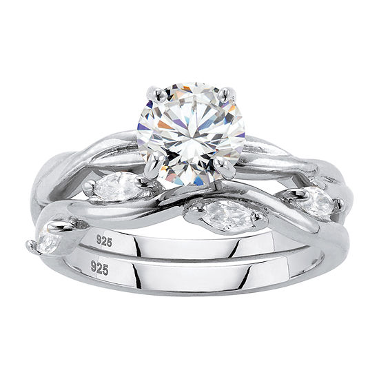 DiamonArt® Womens 1 7/8 CT. T.W. White Cubic Zirconia Sterling Silver Bridal Set