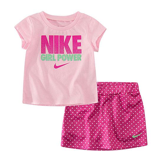 Nike 2 Pc Skort Set Baby Girls
