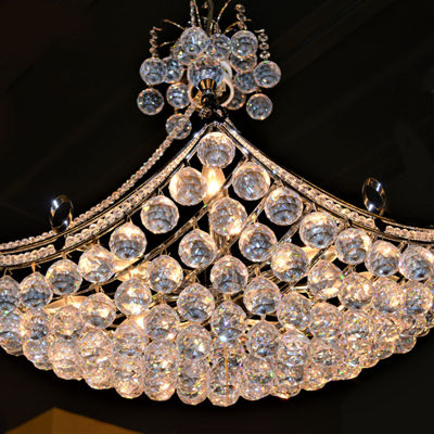 Empire Collection 8 Light Oblong Crystal Umbrella Chandelier
