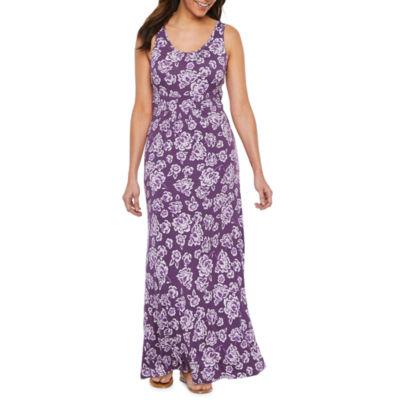 St. John's Bay Sleeveless Bordered Maxi Dress