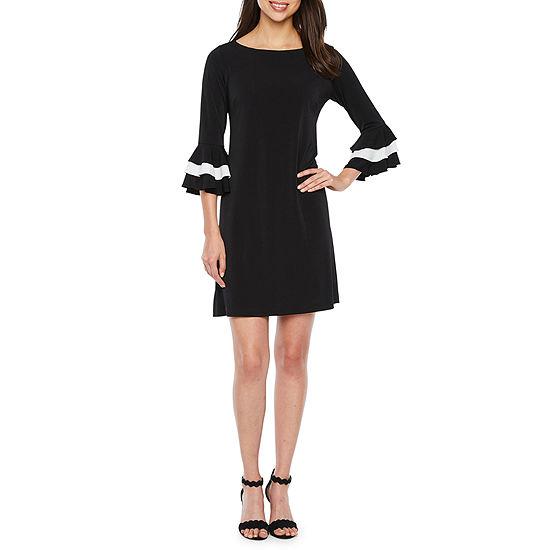 Danny Nicole 3 4 Bell Sleeve Shift Dress