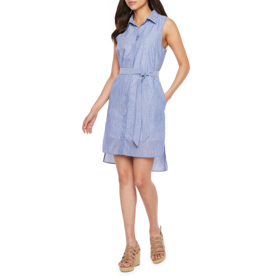 Nicole Miller Sleeveless Shirt Dress