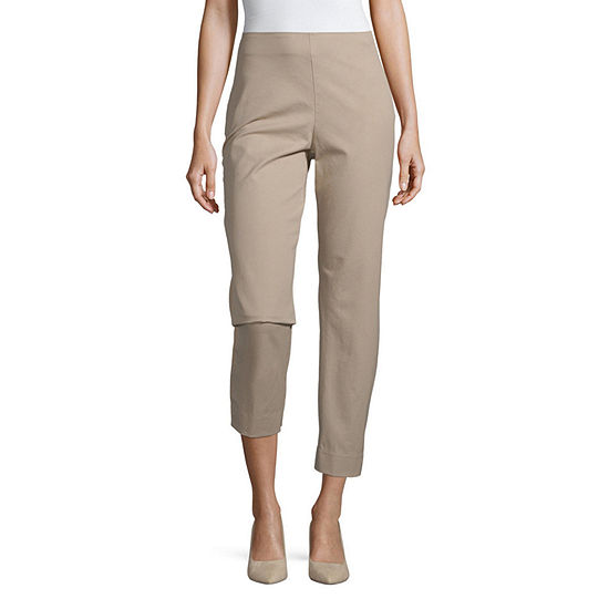 Liz Claiborne Simply Womens Slim Pull-On Pants