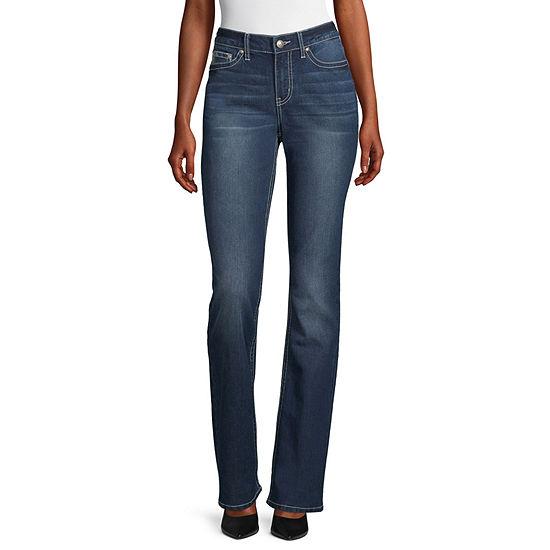 Love Indigo-Tall Womens Regular Fit Bootcut Jean