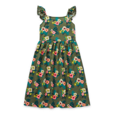 Arizona Little & Big Girls Sleeveless Floral A-Line Dress