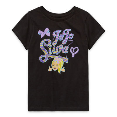 Jojo Siwa - Little Kid / Big Kid Girls Crew Neck Short Sleeve Graphic T-Shirt