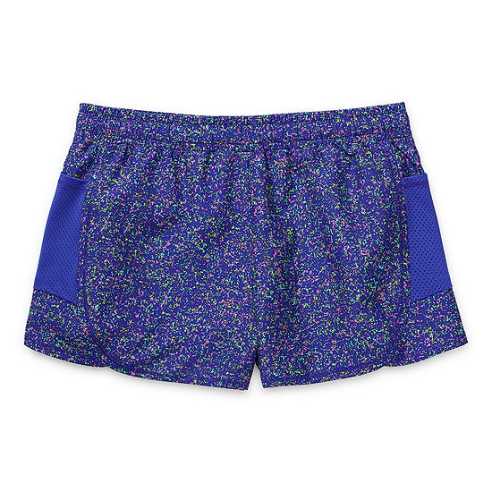 Xersion Little & Big Girls High Rise Adjustable Waist Running Short
