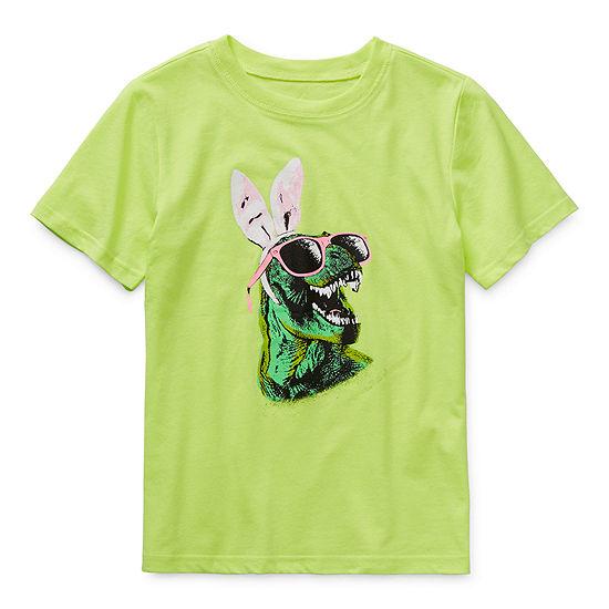 City Streets - Little Kid / Big Kid Boys Crew Neck Short Sleeve Graphic T-Shirt
