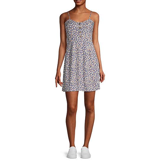 Arizona-Juniors Sleeveless Floral Fit & Flare Dress