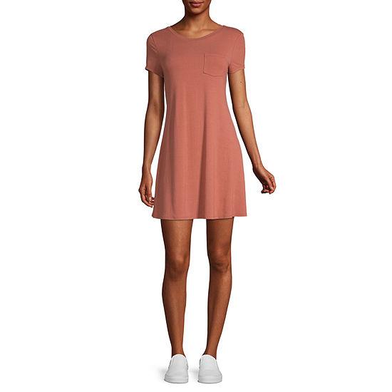 Arizona-Juniors Short Sleeve Swing Dresses