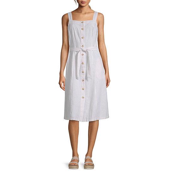 Liz Claiborne Sleeveless Striped A-Line Dress