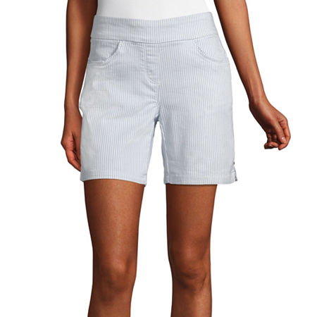 Liz Claiborne Womens Stretch Pull-On Short, 16 , Blue