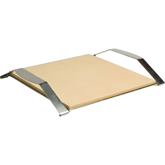 Charcoal Companion® Pizzacraft® Pizza Stone with Stainless Frame
