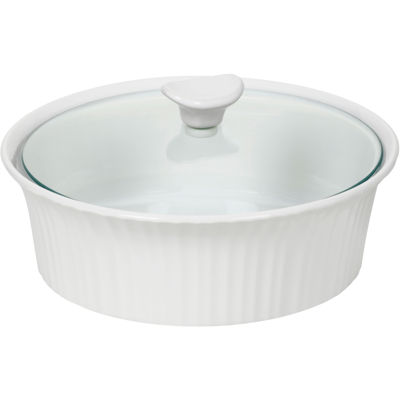 CorningWare® French White III 2½-qt. Covered Oval Casserole