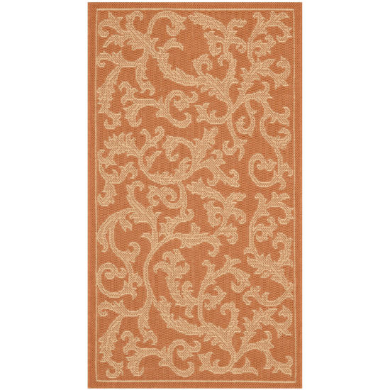 Courtyard Scrolls Indoor/Outdoor Rectangular Rugs