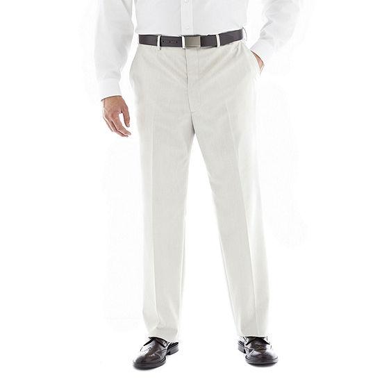 Men's JF J. Ferrar® End on End Flat–Front Big & Tall Suit Pants