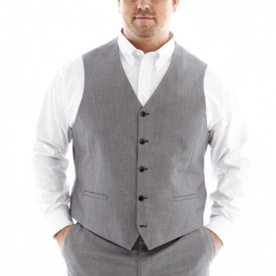 JF J. Ferrar® End on End Suit Vest - Big & Tall