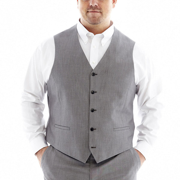 JF J. Ferrar® End on End Suit Vest - Big & Tall