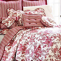 Toile Garden Pillow Sham, One Size , Multiple Colors