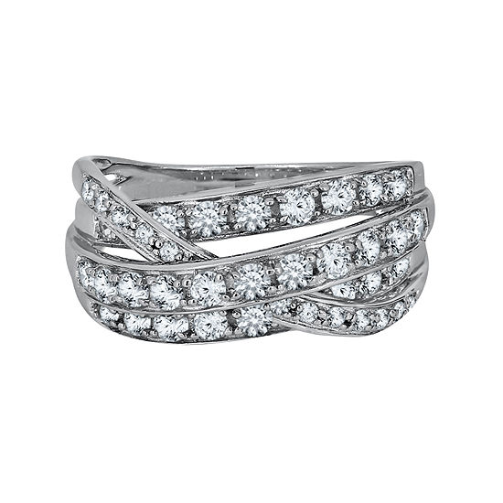 Lab Created White Sapphire Sterling Silver Ring
