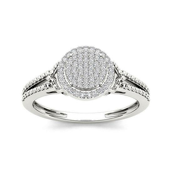1/6 CT. T.W. Diamond 10K White Gold Engagement Ring