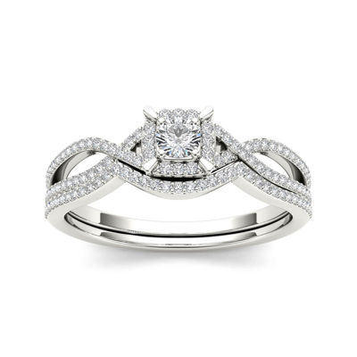 1/3 CT. T.W. Diamond 14K White Gold Engagement Ring