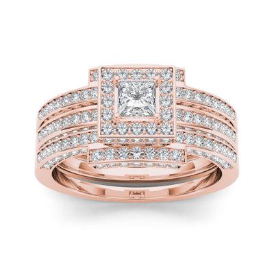 1 1/2 CT. T.W. Diamond 14K Rose Gold Bridal Set