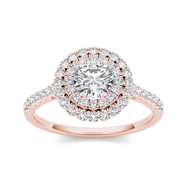 1 CT. T.W. Diamond 14K Rose Gold Engagement Ring