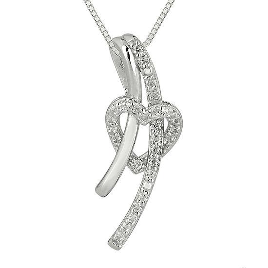 1/8 CT. T.W. Diamond Sterling Silver Heart Pendant Necklace