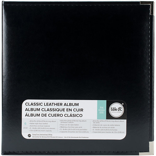 We R Memory Keepers® Classic Leather 3-Ring Binder Album