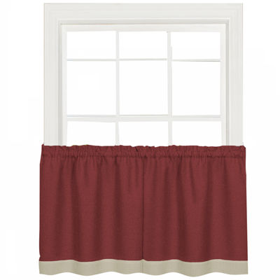 Darcy Rod-Pocket Window Tiers and Valance Curtain Set