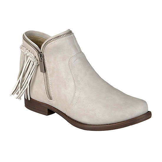 68d934783ef1c Journee Collection Fringe Womens Ankle Boots - JCPenney