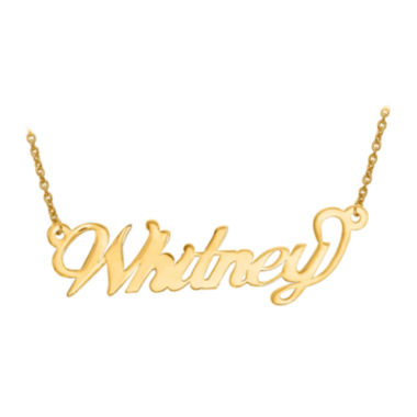 Personalized 14x42mm Andrea Font Name Necklace