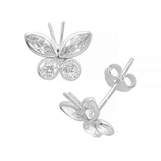 Itsy Bitsy Cubic Zirconia Sterling Silver 10.1mm Stud Earrings
