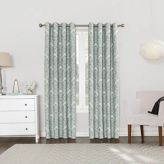 Sun Zero Cynthia Blackout Grommet-Top Curtain Panel
