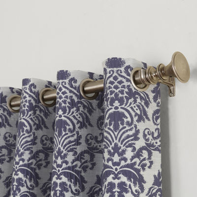 Sun Zero Cynthia Blackout Grommet-Top Curtain Panel