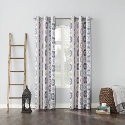Sun Zero™ Jeremy Thermal Lined Grommet-Top Curtain Panel