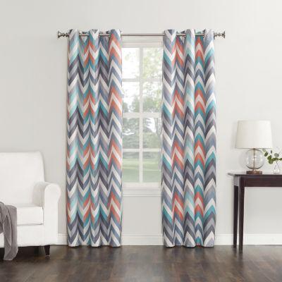 Sun Zero™ Cairo Thermal Lined Grommet-Top Curtain Panel