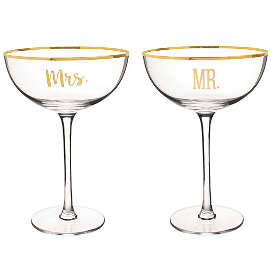 Cathy's Concepts Mr. And Mrs. Champagne Flutes