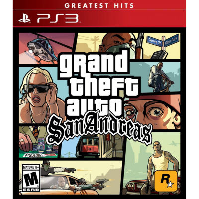Playstation 3 Grand Theft Auto San Andreas Video Game