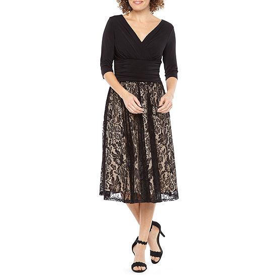 Melrose 3 4 Sleeve Sheath Dress