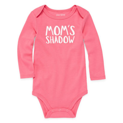 Okie Dokie Long Sleeve Slogan Bodysuit - Baby Girl NB-24M